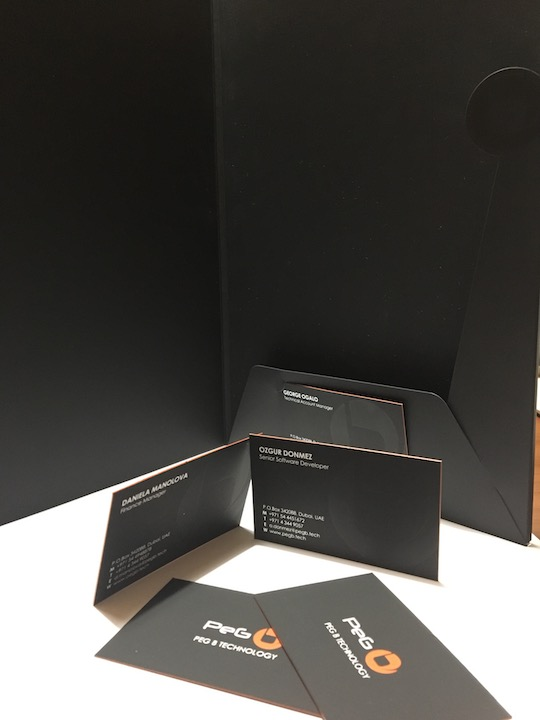 Black Plike Business cards